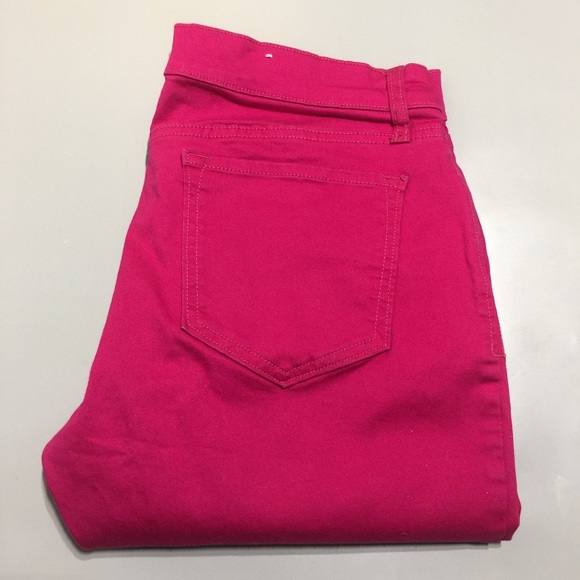 Old navy the rock star fuchsia pink jeans